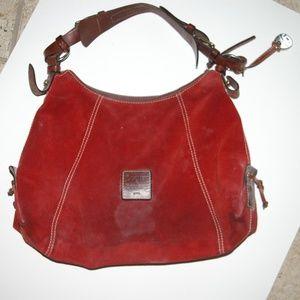 VTG Dooney & Bourke Suede Shoulder Bag
